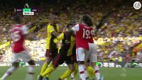 Så du det? - Arsenal-spillere i det røde felt mod Watford - se tumulten her