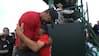 Vild jubel: Her vinder Tiger Woods sin første major i 11 år