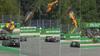 VANVITTIGT UHELD: Formel 3-kører tager vild flyvetur og lander i hegnet - se det her
