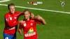 'Føj for pokker, fantastisk mål!': Kim Aabech firsttimer bolden helt op i hjørnet i tredje minut