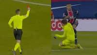 Montpellier-keeper ser rødt efter vanvidstackling
