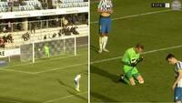 Mareridts-debut: Esbjerg-keeper med smørhandske i 95. minut