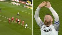 Fræk detalje! Rooney viser klasse og bringer Derby foran med fræk Panenka