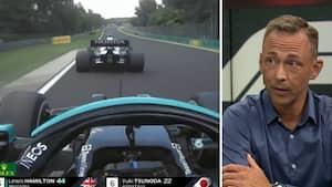 'Han kører i totalt blinde' - Nicolas Kiesa er oppe at køre over denne utrolige manøvre fra Lewis Hamilton