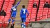 Leicester City vinder FA Cup-semifinale foran 4000 tilskuere - her er målet