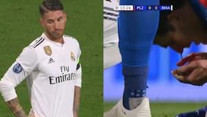 Ramos slår til igen: Rammer modstander i ansigtet så blodet flyder