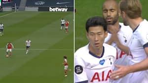 Ups: Arsenal-defensiven hjælper Tottenham til 1-1-målet