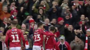 Gigantisk forsvarsbrøler giver Forest sejren mod Derby - se målet her