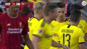 Danskerscoringer og overbevisende straffespark fra kæmpetalent: Se alle målene fra Dortmunds sejr over Liverpool her