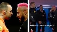 'Snak fransk mig i røven!' Neymar og dommer fortsatte heftig kontrovers i tunnellen – Se det her