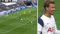 Vraget fra landsholdet - her chipper han lækkert Tottenham på 2-0