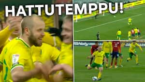 Teemu Pukki bomber løs - se hans hattrick mod Huddersfield her