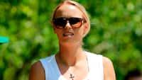 Ny karriere: Wozniacki imponerer med golfslag fra gletsjer