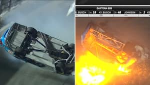 Forfærdeligt crash i Daytona 500 lægger mørk sky over Hamlin-sejr - Newman førte indtil sidste omgang