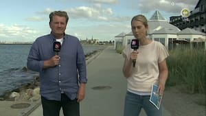 Camilla og Thygesen fra landsholdslejren: 'Billedet fra Eriksen var en befrielse – Nu handler det om fodbold'