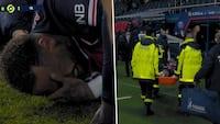 Grædende Neymar båret fra banen i PSG-nederlag