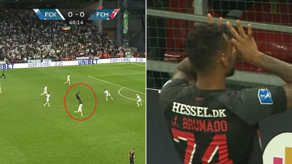 Stor mavepuster til FCK: Angriber brager FCM foran i Parken - laver flabet jubelscene