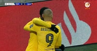 For tredje kamp i træk: Braithwaite scorer endnu engang for Barca