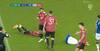 Grimt sammenstød: Everton-angriber bliver slået helt ud efter uheld