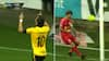 Kæmpe brøler: Kian H. spiller den lige ud i fødderne på Horsens-kaptajn - se 1-0-målet her