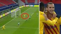 Smuk kasse: Griezmann bringer Barca foran med fræk hæl-afslutning