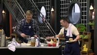 Indædt konkurrence i Masterchef-køkkenet: Hvem laver den bedste Super Bowl-menu?
