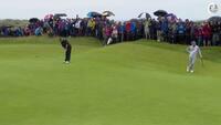Han kan gå på vandet! - Shane Lowry begejstrer publikum ved The Open med fremragende put