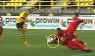 'Det lugter langt væk af straffe' - Tøfting og Frimann undrer sig over, hvorfor Dortmund ikke fik VAR-hjælp