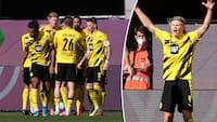 Dobbelt Haaland sender Dortmund mod top 4: Se højdepunkterne her