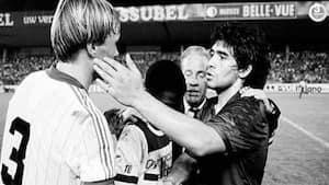 Bad om Maradonas trøje, men Morten Olsen havde taget den: Få hele Frimanns fantastiske 1983-anekdote her