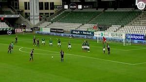 Mål på stribe: Se alle scoringerne fra sæsonens sidste spillerunde i NordicBet Ligaen