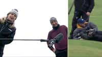 UPS! Golfspiller interviewes på live-tv - så ryger kameramanden på røven