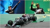 Vildt crash, Mercedes-brøler, stærkt Hamilton-comeback og sensationel sejr til Ocon - Se det bedste fra Ungarn her