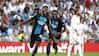 Siiiii!: Brugges målscorer håner Real Madrid med Ronaldo-jubel