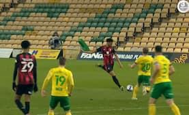 Norwich City taber topkamp mod Bournemouth efter oprykning - se alle fire mål