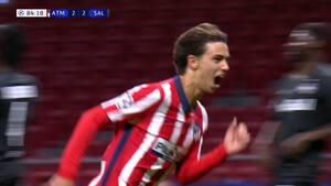 Vild jubel: Joao Felix bliver matchvinder i 85. minut - se 3-2-scoringen her