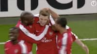 Danish dynamite: Da Bendtner scorede hattrick i Champions League for Arsenal