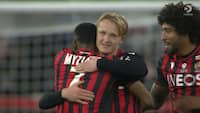 Dansk matchvinder: Dolberg bliver dobbelt målscorer og vender nederlag til sejr - se alle målene her