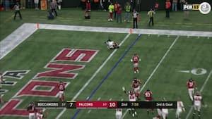 'Hvordan i alverden gør han det?!' - Bucs-spillers umulige touchdown er ikke til at tro