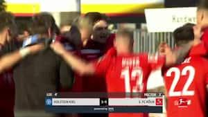 Köln tæver Holstein Kiel og undgår nedrykning: Se alle 6 mål her