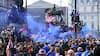 Ekstatiske Rangers-fans raserer Glasgow efter ubesejret sæson