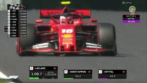 Vettel og Leclerc var skarpest - se de to Ferrari-racere sætte rivalerne til vægs i Q3