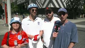 Engelske fans sender positive vinde mod Eriksen