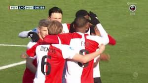 Feyenoord foran i hollandsk topbrag: Nicolai Jørgensen er bænket