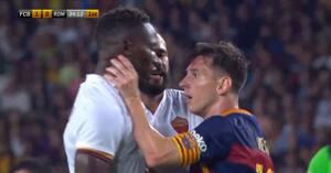 Dengang Messi nikkede modstander en skalle og tog kvælertag i venskabskamp