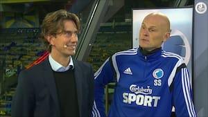 Da Solbakken og Frank mødtes i studiet: 'De ligger nummer tre, vi er nummer et, så har vi begge en god søndag'