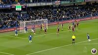 Så gik den ikke længere for Leicester - se Rüdigers 1-0 mål her