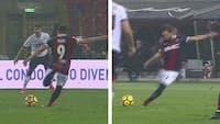 Seriøs sparketeknik: Serie A-spiller scorer på frispark med BÅDE venstre og højre i samme halvleg
