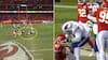 Quarterback kaster bold i fjæset på modstander - så stikker det helt af