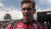 Tilfreds Lundgaard efter flot Indycar-debut: 'Det var hårdt'